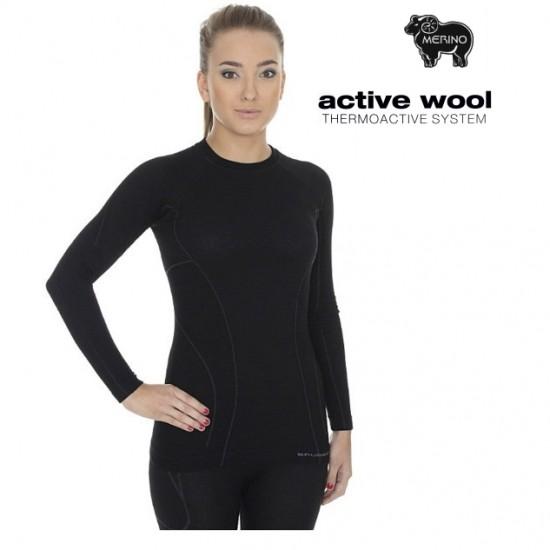 Moteriški termo marškinėliai Brubeck Active Wool