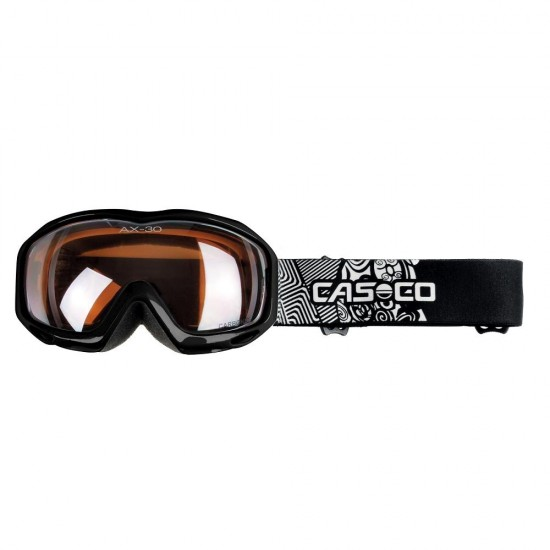 Slidinėjimo akiniai CASCO AX-30 PC Black (Vaikiški)