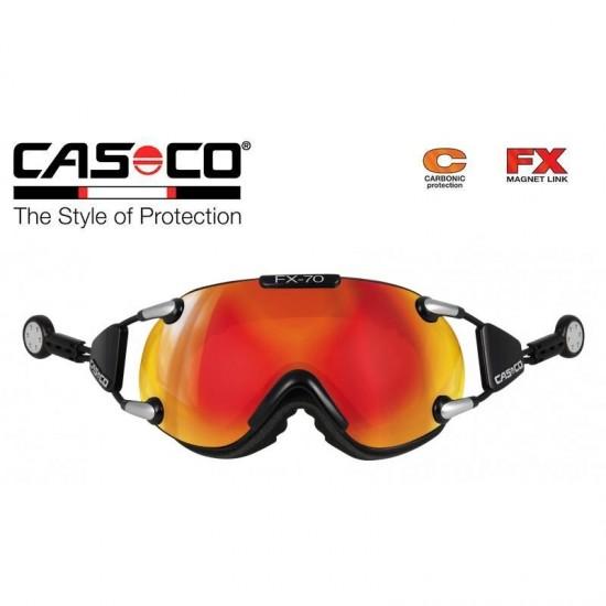 Slidinėjimo akiniai CASCO FX70 Carbonic Black-orange