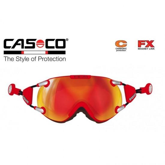 Slidinėjimo akiniai CASCO FX70 Carbonic Red-orange