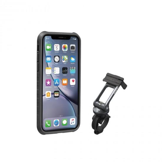 Topeak RideCase iPhone XR juodas telefono laikiklis